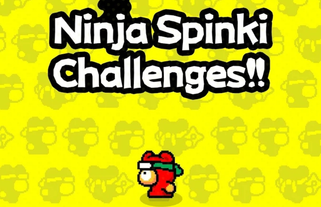 Ninja Spinki Challenges is een uitdagende game van de maker van Flappy Bird