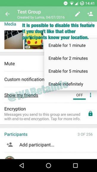 WhatsApp Live Location Tracking