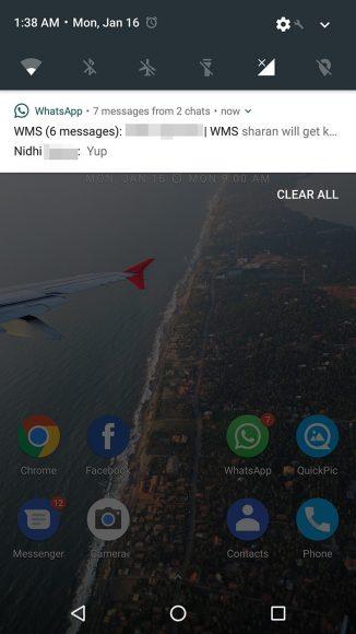 WhatsApp Beta notificaties