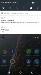 WhatsApp Beta notificaties