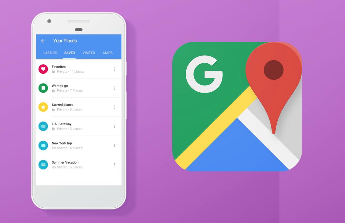 Zo kun je lijstjes maken en delen met de Google Maps-update