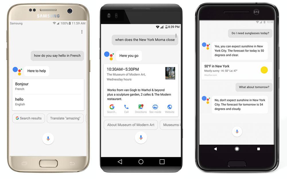 google assistant smartphones