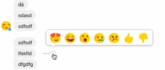 Facebook Messenger emojireacties