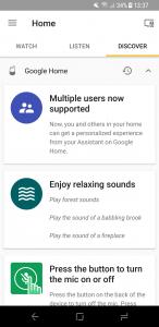 Google Home-accounts