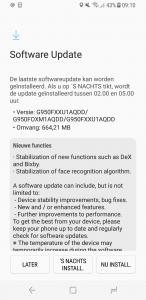 Eerste Galaxy S8-update