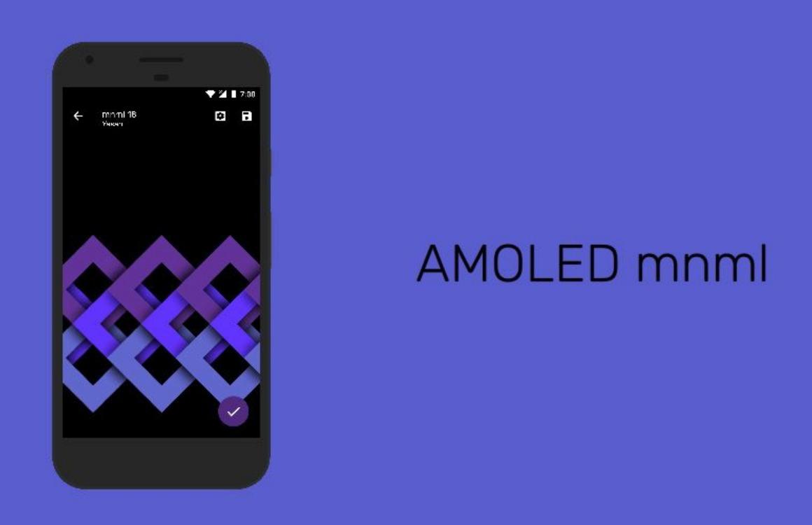 Met AMOLED Mnml vind je de beste wallpaper voor je Galaxy S8