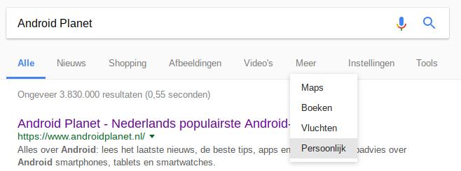 Google Persoonlijk
