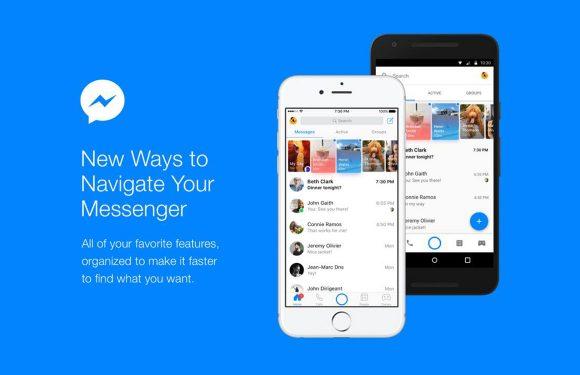 Facebook stroomlijnt interface van Messenger-app