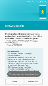 Samsung Galaxy S6 Android 7.0-update