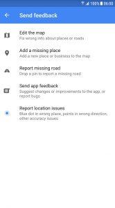 Google Maps wegen bewerken