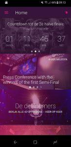 Eurovisie Songfestival 2017-app
