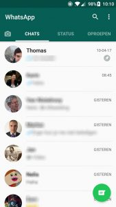 whatsapp-chats vastpinnen