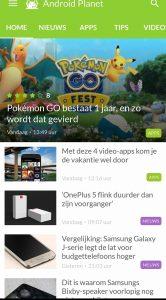 Android Planet-app beschikbaar