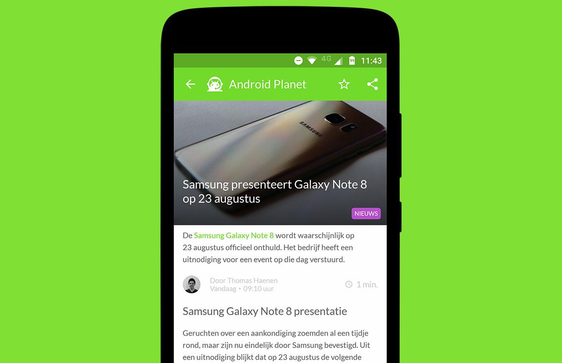 Android nieuws #29: Galaxy Note 8 presentatie en Google Glass