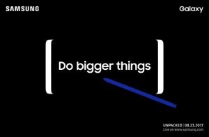 Samsung Galaxy Note 8 uitnodiging