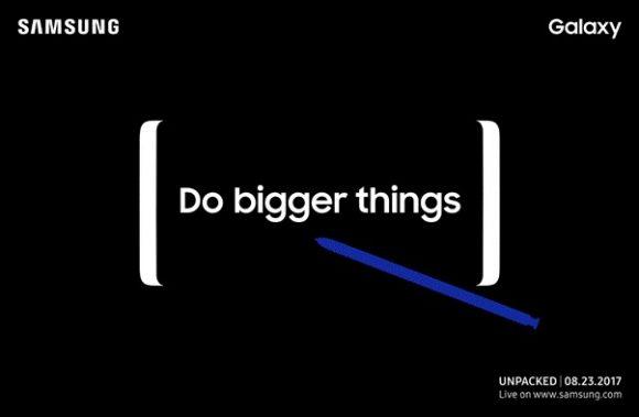 Samsung Galaxy Note 8 uitnodiging
