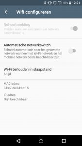 Wifi-notificaties uitschakelen