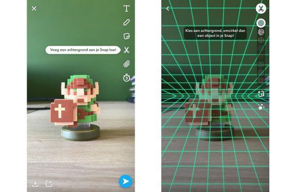 Snapchat Stemfilters-update achtergronden