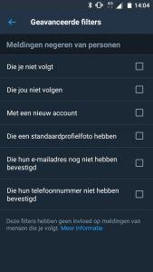 Twitter geavanceerde filters