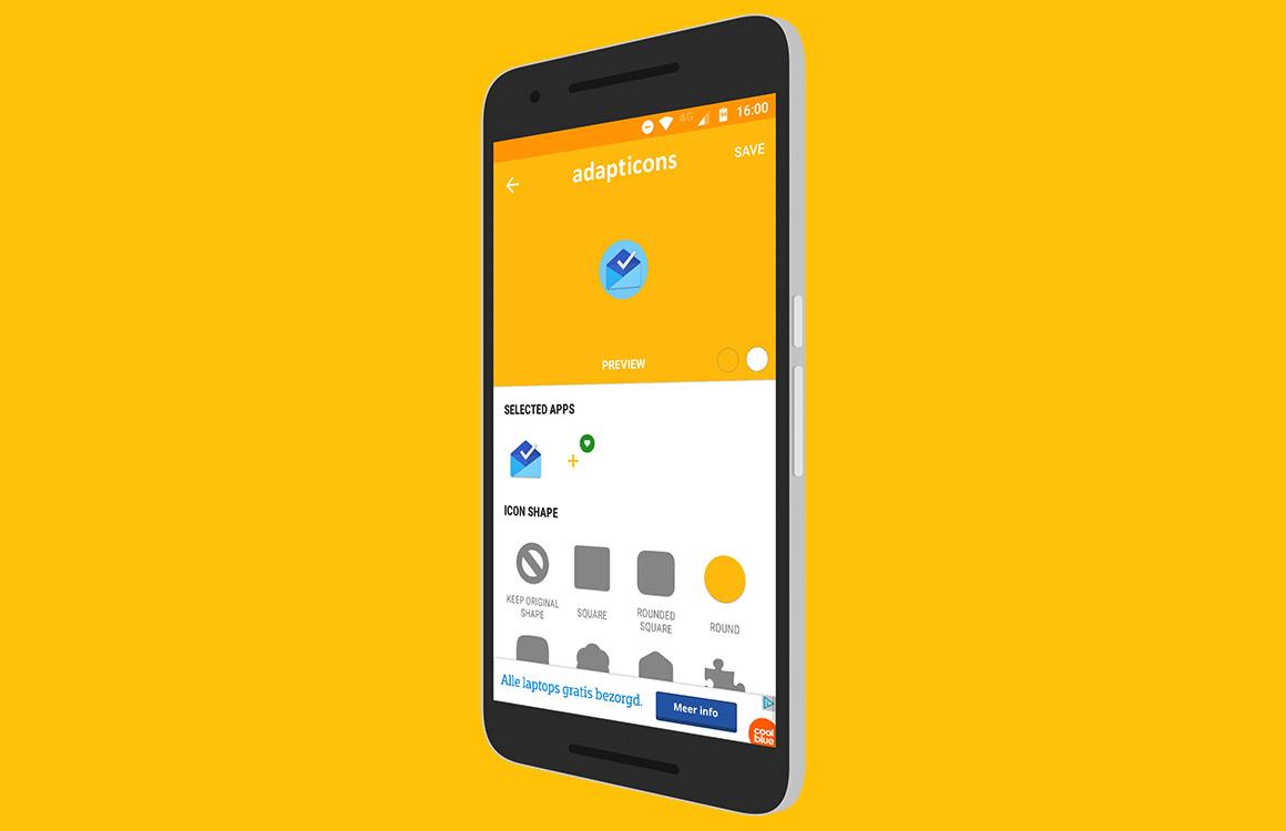 Maak je eigen app-icoontjes met Adapticons