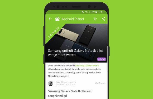 Android nieuws #34: Android Oreo en de Samsung Galaxy Note 8