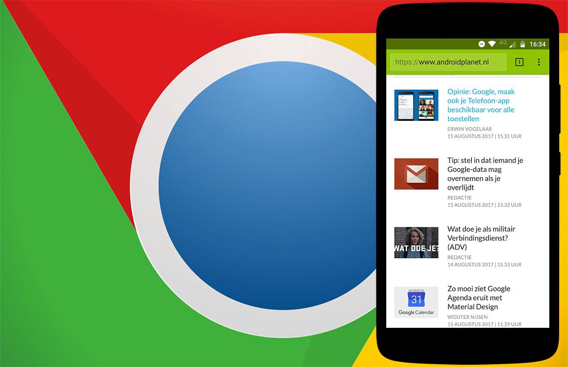 Zo gebruik je Chrome voor Android zonder internetverbinding