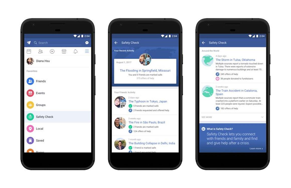 Facebook brengt Veiligheidscheck naar app en geeft WhatsApp kleur