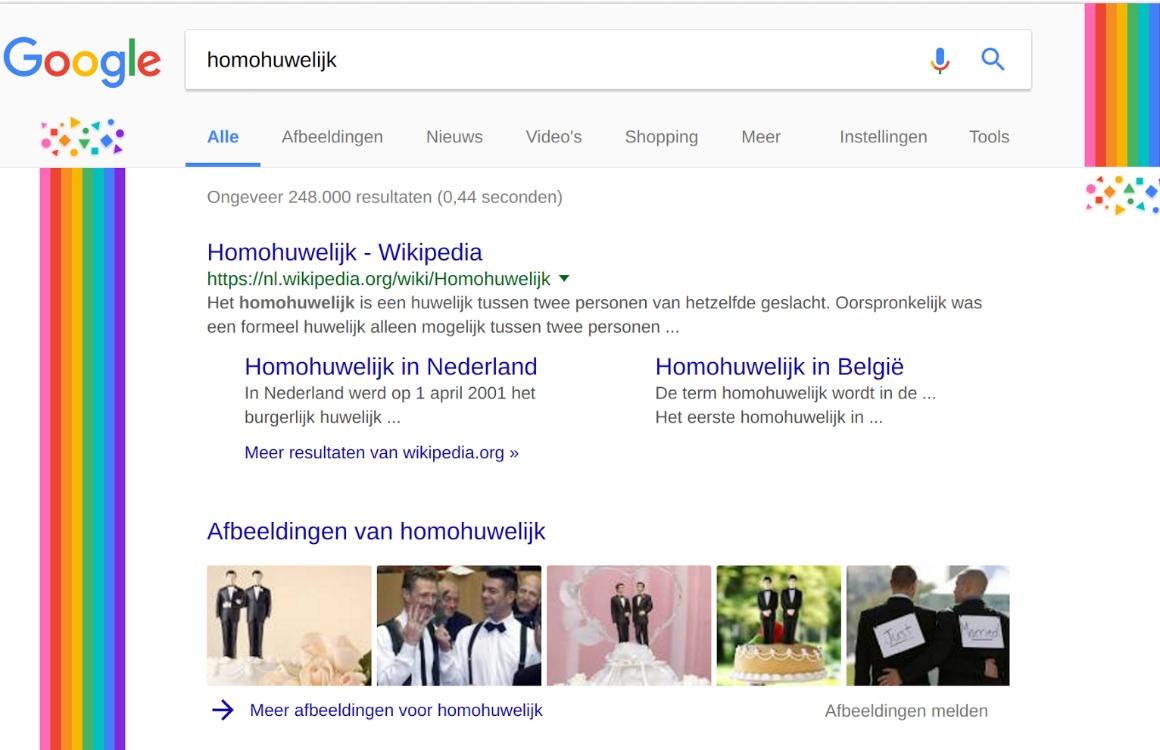 Google pakt uit met regenbogen voor Amsterdam Pride