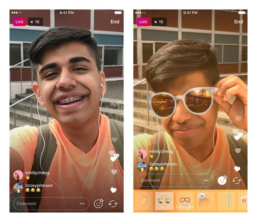 live instagram-filters