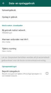 whatsapp opslagruimte