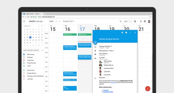 Nieuw Google Agenda-design