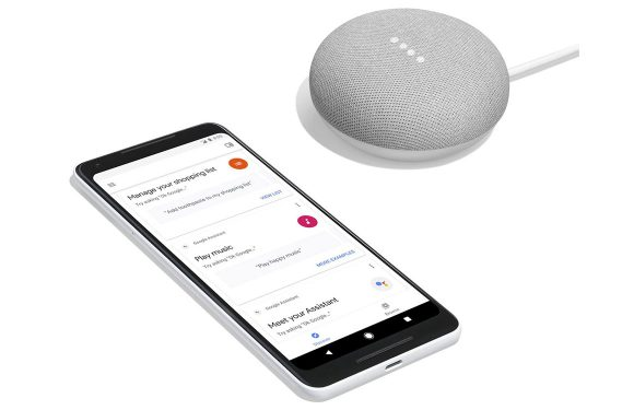 Google onthult kleine Home Mini en high-end Home Max