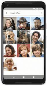 Google Foto's huisdieren vinden