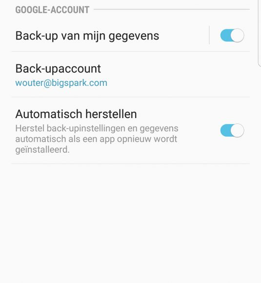 android back-up maken