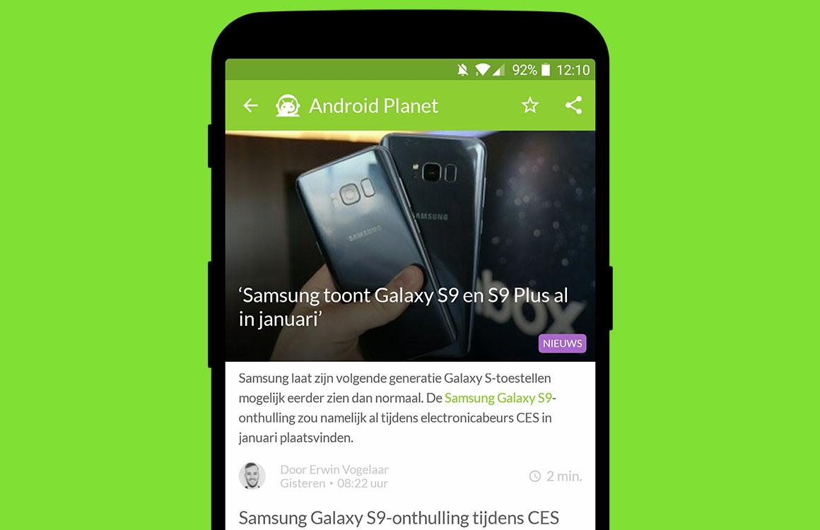 Android nieuws #47: Galaxy S9 in januari en gevaarlijke Android-apps