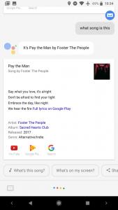 Google Assistant muziekherkenning