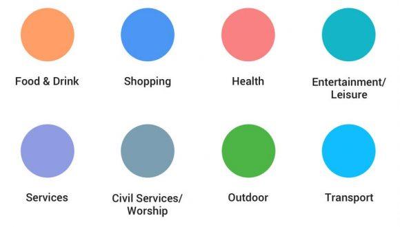 google maps kleuren en iconen
