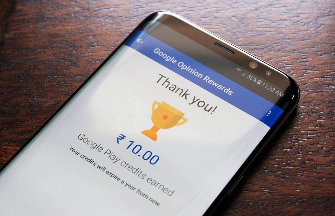 Verdien gratis Play Store-tegoed met Google Opinion Rewards