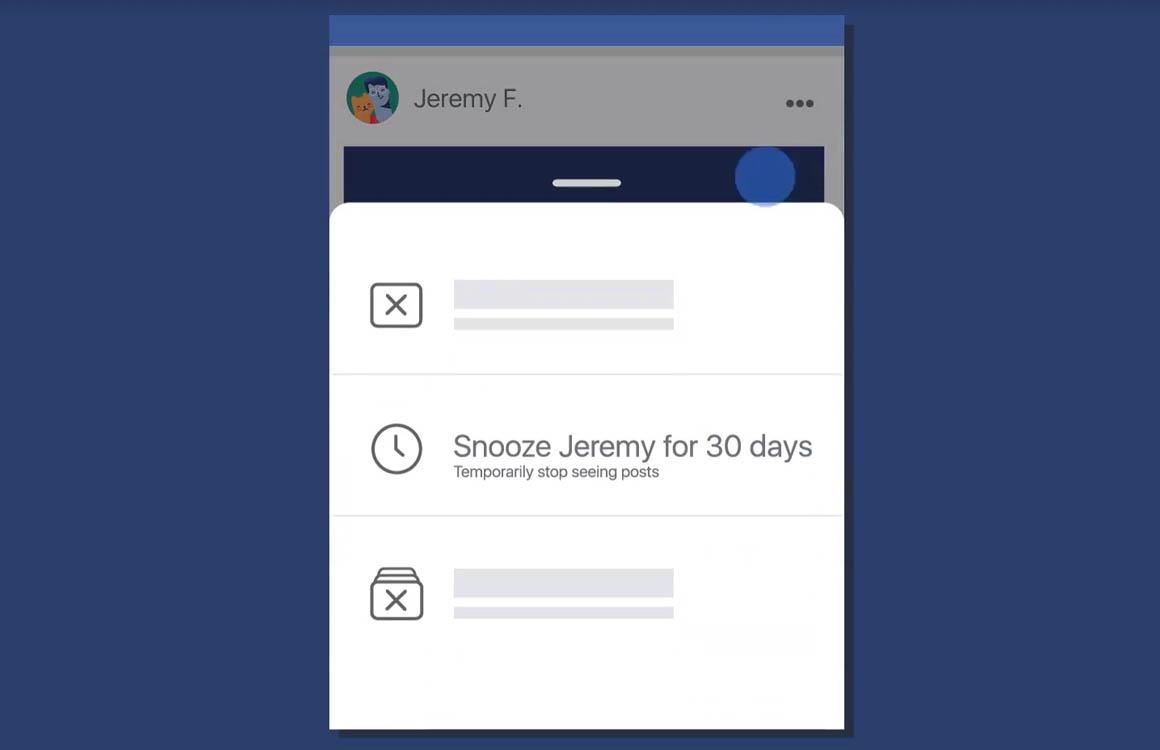Tip: Mute mensen of pagina's een maand lang op Facebook