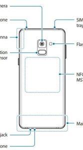 Samsung Galaxy A8 selfiecamera