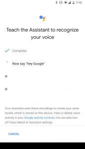 Hey Google smartphone