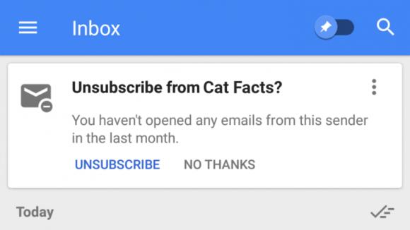 inbox uitschrijven