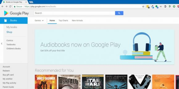 Google Play Store audioboeken