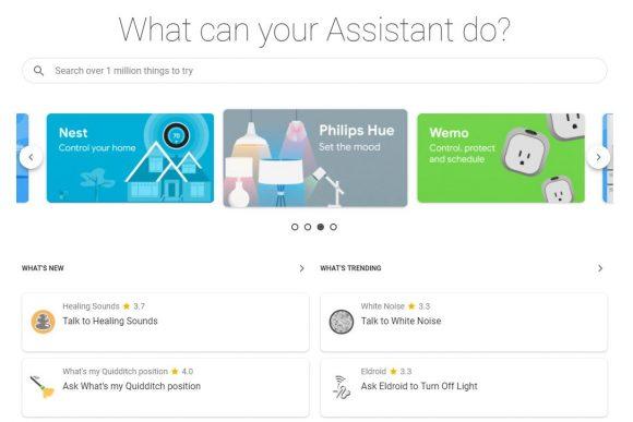 Google Assistant-acties