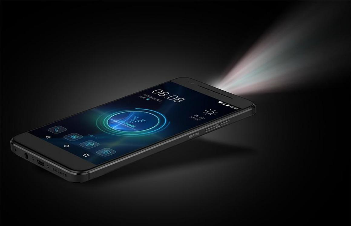 Deze Android-smartphone heeft een ingebouwde projector