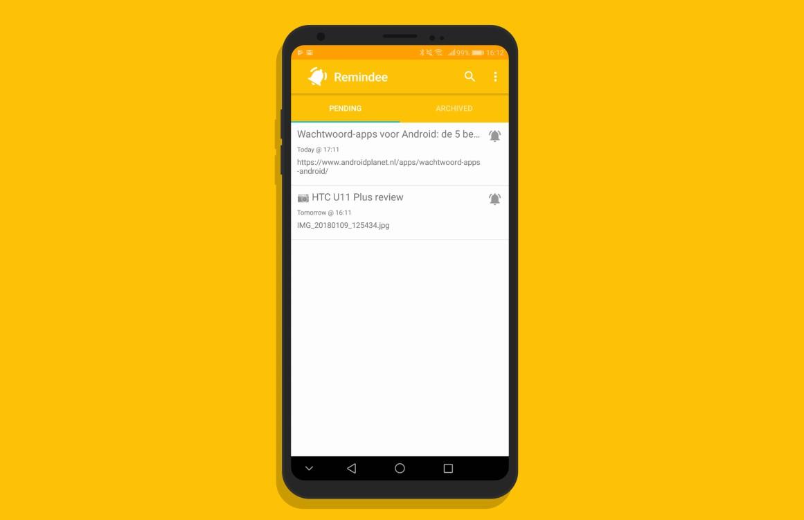 Remindee gebruikt je deelknop voor makkelijke reminders op Android