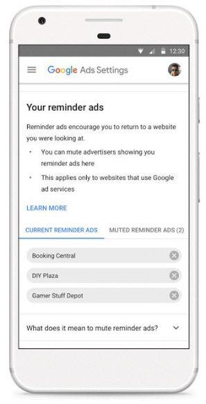 Google reminder-ads uitschakelen