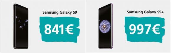 Samsung Galaxy s9 prijs