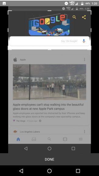 Google-app screenshots