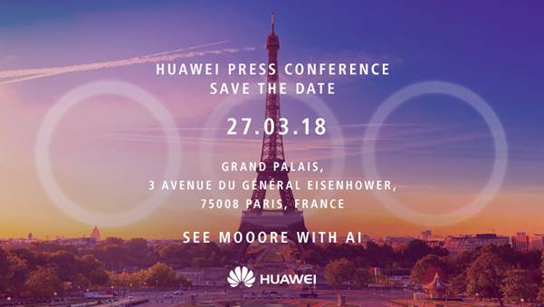 Huawei P20 uitnodiging